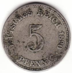 Image #1 of 5 Pfennig 1890 A