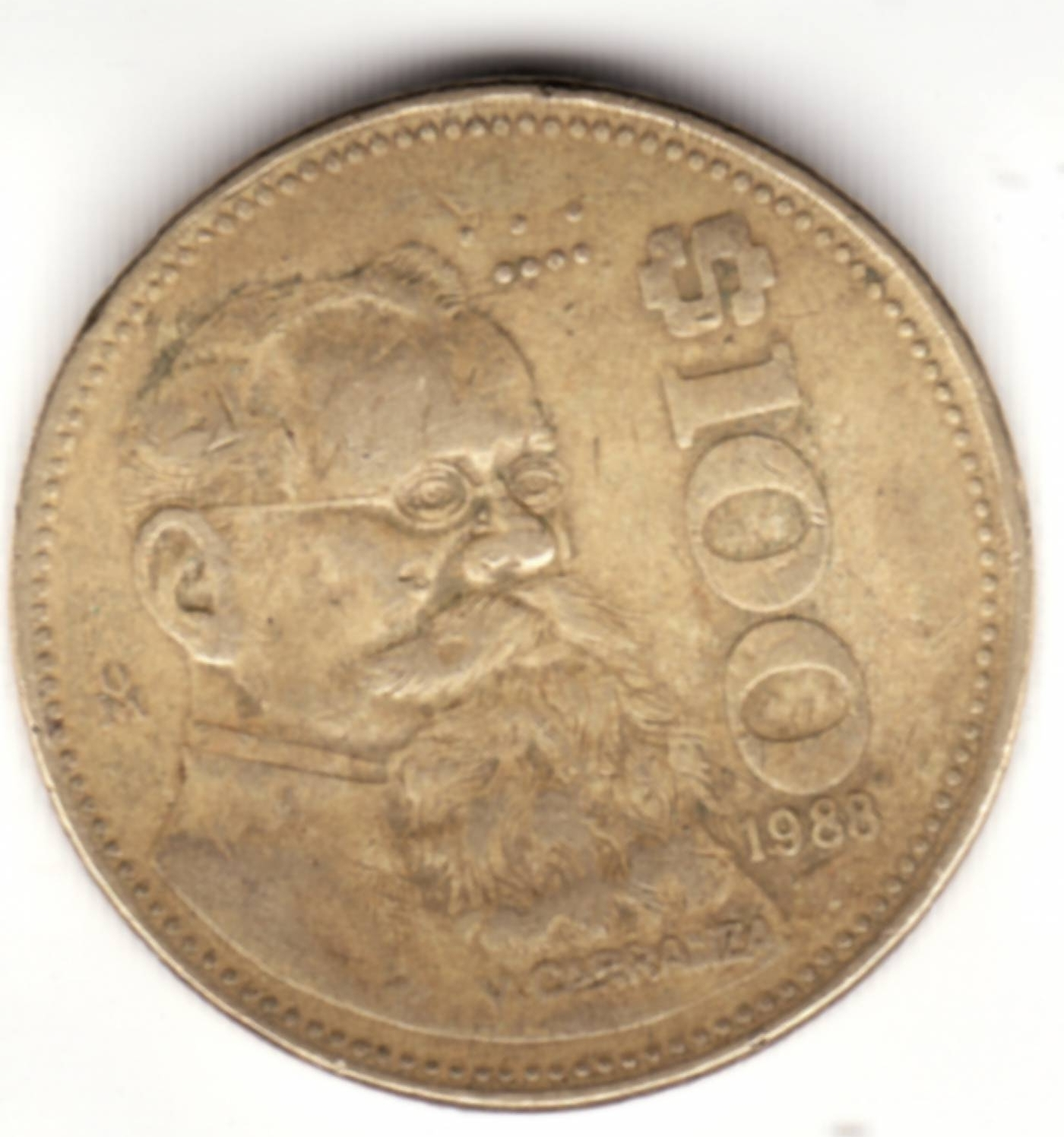 100 Pesos 1988, United Mexican States (1981-1990) - Mexico