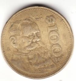 Image #1 of 100 Pesos 1988