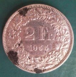 Imaginea #1 a 2 Franci 1955 B