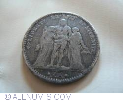 Image #2 of 5 Francs 1877 A