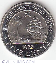 Image #1 of 5 Cents 1972