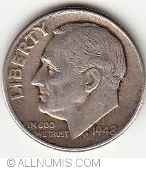 Image #1 of Dime 1948