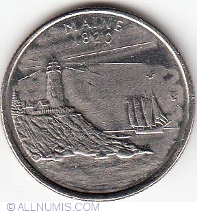 Error State Quarter 2003 D Maine Missing Year And E