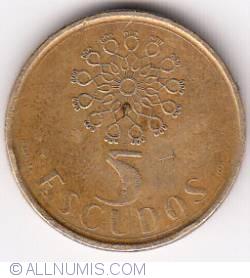 Image #1 of 5 Escudos 1990