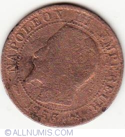Image #2 of 5 Centimes 1853 B
