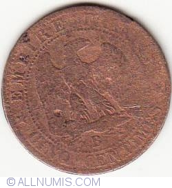 Image #1 of 5 Centimes 1853 B