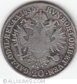 Image #1 of 20 Kreuzer 1835 E