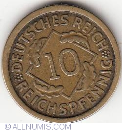 Image #1 of 10 Reichspfennig 1925 F