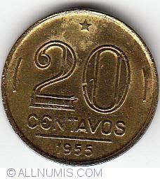 Image #1 of 20 Centavos 1955