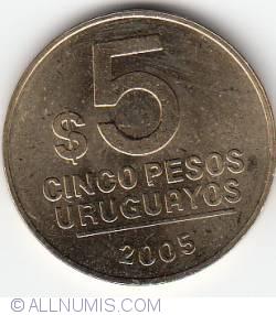 Image #1 of 5 Pesos Uruguayos 2005