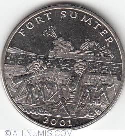 5 Dollars 2001 - Fort Sumter
