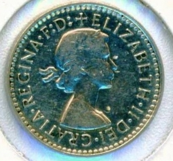Image #1 of 3 pence 1954