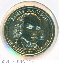 Imaginea #1 a 1 Dollar 2007 P - James Madison