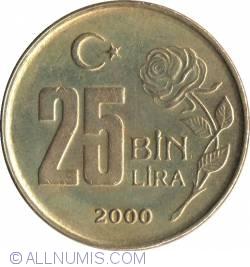 Image #1 of 25000 (25 Bin) Lira 2000