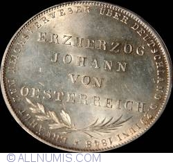 Image #2 of 2 Gulden 1848 - Archduke Johann of Austria elected as Vicar