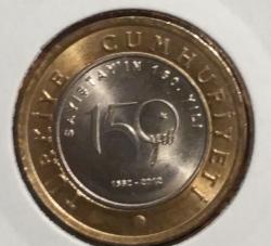 1 Lira 2012 - 150 ani Curtea de Conturi din Turcia