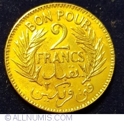2 Francs 1921 (AH1340)