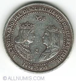 Image #1 of [FANTASY] 3 Euro 1998 - 500th anniversary of the discovery of Venezuela