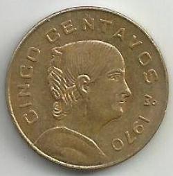Imaginea #1 a 5 Centavos 1970