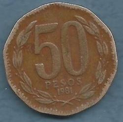 Image #1 of 50 Pesos 1981