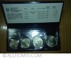 Image #1 of Set of FAO Coins of 1,2,5 and 10 dinars 1970