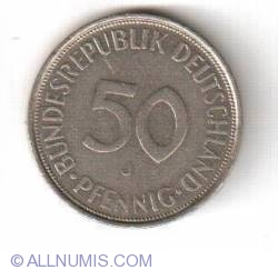 Imaginea #1 a 50 Pfennig 1972 J