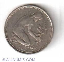 Imaginea #2 a 50 Pfennig 1972 J