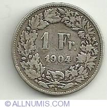 Image #2 of 1 Franc 1904