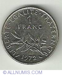 Imaginea #2 a 1 Franc 1972