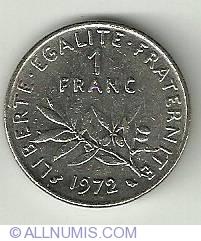 Image #2 of 1 Franc 1972