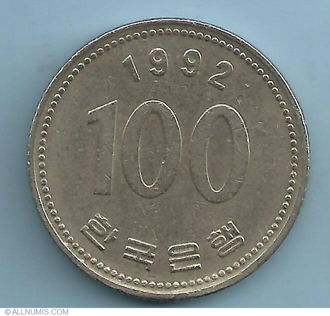 100 Won 1992