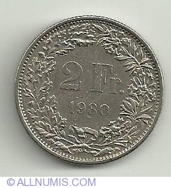 Image #2 of 2 Francs 1980