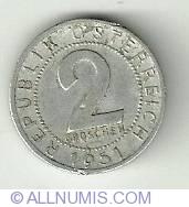 Imaginea #2 a 2 Groschen 1951