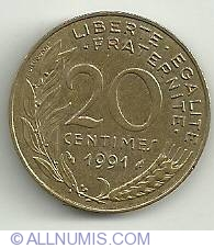 Image #2 of 20 Centimes 1991