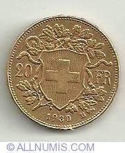 Image #2 of 20 Francs 1930