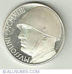 Imaginea #1 a 20 Lire 1928 - Mussolini