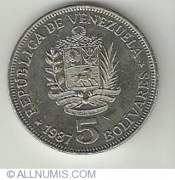 Imaginea #2 a 5 Bolivares 1987