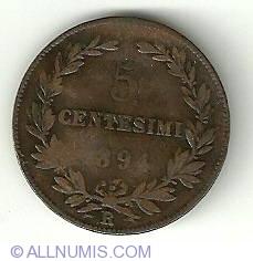Imaginea #2 a 5 Centesimi 1894 R