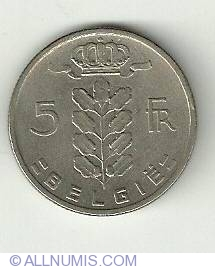 Image #2 of 5 Francs 1962 Belgie