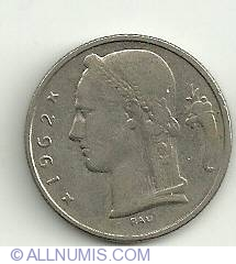 Image #1 of 5 Francs 1962 Belgie