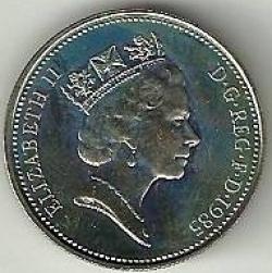 5 Pence 1985