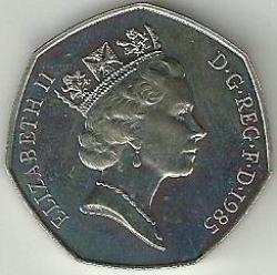 50 Pence 1985