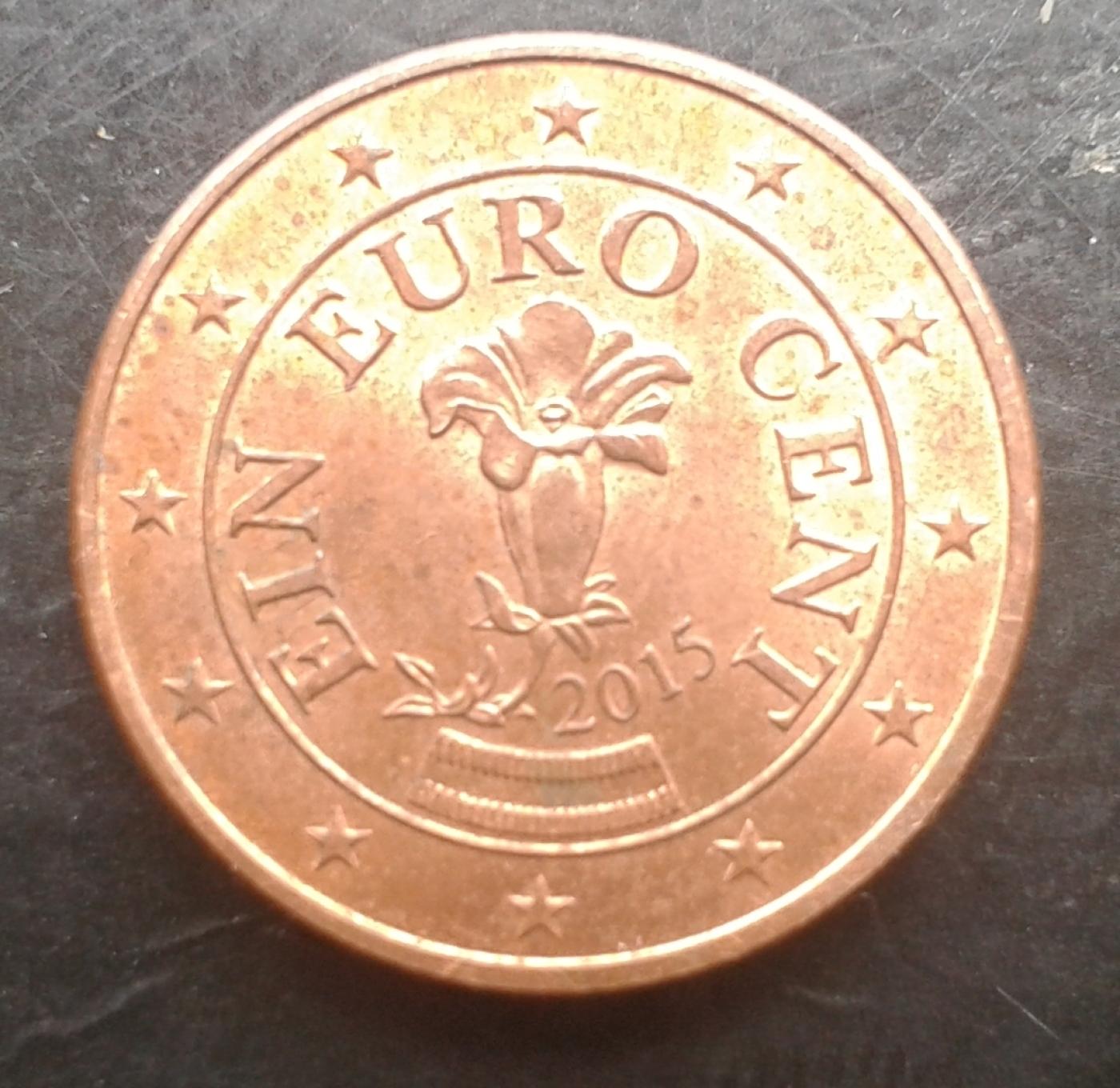 1 Euro Cent 2015 Euro 2010 2019 Austria Coin 36241