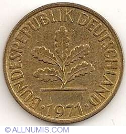 10 Pfennig 1971 J (large J)