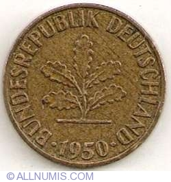 Image #2 of 5 Pfennig 1950 F