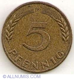Image #1 of 5 Pfennig 1950 F