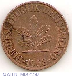 Image #2 of 1 Pfennig 1968 D