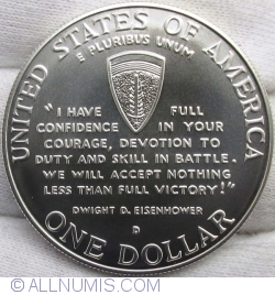 Image #1 of 1 Dollar 1993 D - 50th Anniversary of World War II