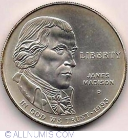 Image #2 of 1 Dollar 1993 D - James Madison - Bill of Rights